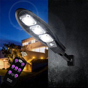 90COB Solar Outdoor Lamp PIR Motion Sensor Remote Control Waterproof LED Street Lamps Wall Light For Garden Front door Night Lights