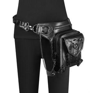 Waist Bags Fashion Women's Packs For Men's Vintage Steampunk Crossbody Biker Ladies Gothic Pack Shoulder Bag 2021