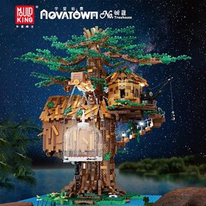 Mould King The Tree House Model Building Blocks With Led Parts Creative Toys 16033 3958Pcs Assembly Bricks Kids Christmas Gifts