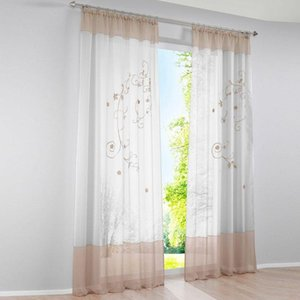 Curtain & Drapes 2021 Multi-sizes Tulle Curtains Window For Living Room Bedroom Kitchen Modern Colorful Treatments Voile