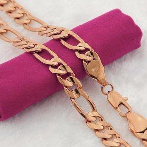 10 قطع 12 ملليمتر عرض الذهب اللون شقة سلسلة قلادة للرجل أزياء الرجال كبح سلاسل