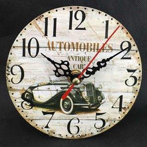 Wall Clocks Clock Creative Retro DIY Frameless Analog Home Casual Round Office Multicolor Decor