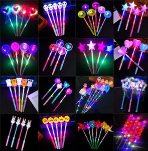 Christmas toys LED flashing light up sticks glowing rose star heart magic wands party night activities Concert carnivals Props kids Lights Stick toy