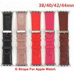 Fashion Designer Watch Bands For Apple Genuine Leather Straps Suitable iWatch Strap 38mm 40mm 42mm 44mm