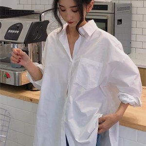 Shirt Spring autumn retro fashion popular white female design sense niche loose and thin long-sleeved ins new