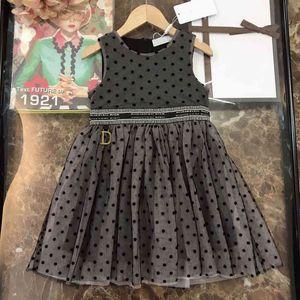 2021ss Baby Girl Платье Повседневная DO Дизайнеры Одежда Детские Кружевные Платья Летние Девушки Бутик Одежда Без Рукавов Юбка Китай Прямой Кот Логотип Печать DI23