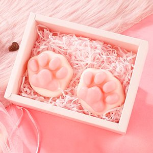Cute Cat Claw Acarid Soaps Acne Oil Control Blackhead Remove Wash Bath Essential Oil's Handmade Soap