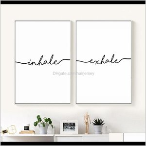 Paintings Inhale Exhale Nordic Poster Minimalist Canvas Prints Wall Art Painting Decorative Picture Living Room Decoration Home Decor St8Ak