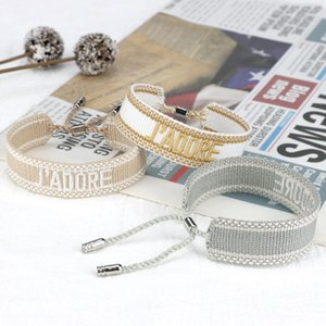Charm Bracelets Jewelry Bracelet Embroidery Color Gold Cotton Woman Man Woven Tassel Adjustable Lover Gift JAD