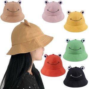 Women Fashion Frog Bucket Hat Summer Female Parent-Child Fishing Cap Korean Wild Cute Sun