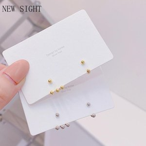 Stud Sight Fashion Brand Jewelry Delicate Irregular Metal Beads Earrings Crystal For Women