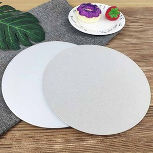 Circle Base Board Cardboard Rounds Holders White Disposable Plate Tray 5 Sizes For Cake Decorating Baking Supp