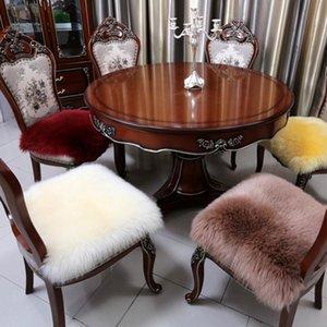 Carpets 100% Real Fur Mat Rug Carpet Soft Sheepskin Chair Cover Warm Hairy Seat Pad Plain Skin Fluffy Area Rugs