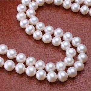 Halsketten Sinya AAA Grade Süßwasser Runde Perlen Halskette 18 Zoll 46 cm 7-10mm große Perle Nobel Schmuck Hoher Glanz für Frauen Y1