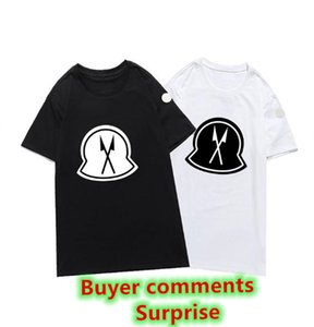 2021 T-shirt da ricamo Top Polo Fashion Personalizzato Uomini Donne Design Design T-shirt femminili Magliette Alta qualità Black and White95% cotone