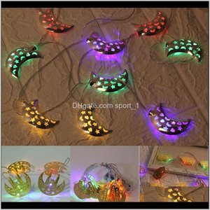 Other Event Festive Party Supplies Garden Drop Delivery 2021 Islamic Moon Castle Decoration Eid Alfitr 10 Led String Light Ramadan Festival H