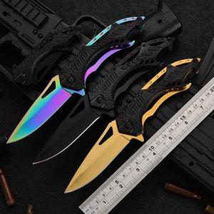 Hand Tools 007 CS Gift folding pocket fruit peeling knife Tactical survival camping EDC tool Aluminium handle 3cr13 blade