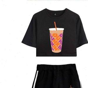 Nieuwe Charli Damelio Ijs Koffie Women Tracksuits Ploetert Vrouwen Tweedelige Set Shorts Mooie T shirt Sexy Merch Sport Pak