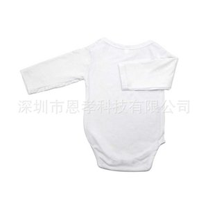 Sublimation Blank White Newborn Baby Romper Diaper pants Christmas DIY Jumpsuits Pure Solid Print Long Sleeve Infants One-pieces Bodysuit Clothes H918VFZE