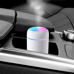 자동차 공기 청정기 USB 휴대용 가습기 에센셜 오일 디퓨저 홈 안개 가공 안개 메이커 얼굴 증기선에 대 한 LED 야간 램프와 신선한