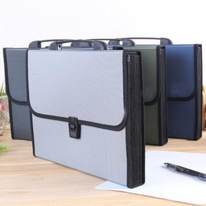 Business Card Files Waterproof Wear-Resistant 12 Organ Bag A4 Portable Folder Multilayer Envelope Paper Receive Package Fashion File