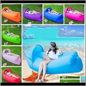 Outdoor Pads Portable Inflatable Bed Outdoors Sunshade Sandy Beach Air Mattress Oxford Water Play Sleeping Bag Collection Lazy Person Tck03