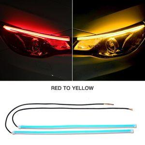 Car Headlights 2 Pieces Of Automobile Headlamp Front Decorative Lamp Color Mobile App Automatic Control Turn Signal