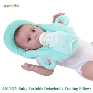 4 Colors PP Cotton Soft Baby Portable Detachable Feeding Pillows Self-Feeding Support Baby Cushion Pillow Baby Nursing Pillows 210924