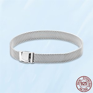 Women Mesh Charm Bracelets 925 Silver Top Quality Luxury Designer Fine Jewelry Fit Pandora Beads Charms European Style Lady Gift With Original Box