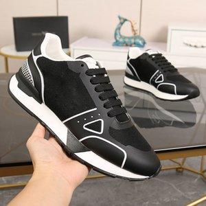 مصمم الرجال عارضة أحذية عالية الجودة الفاخرة والأبيض ماركة الرياضة الأزياء عادي الجلود المشي التطريز إلكتروني نمط مدرب حجم مربع 40-45