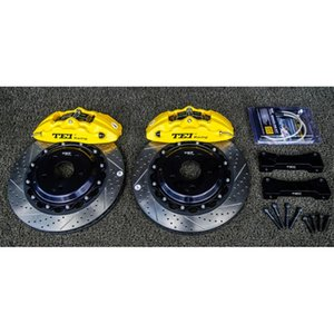 Front Brake Kit 4 Piston Caliper Forged 355x28mm Disc Rotor For AVALON 1999-2019 18inch