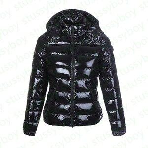 Мода женские парку глянцевый пуховик капюшон Британский стиль черные блестящие женские пальто Дудуне Femme Black Matte зимнее пальто Parkas