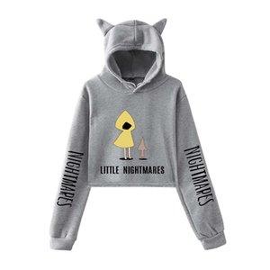 Маленькие кошмары II Hoodie Fullshirts Women Cat Pullover Girl Kawaii Harajuku Tracksui