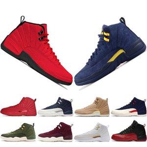 Ucuz Yeni 12 12s Spor Red Michigan Erkek Basketbol Ayakkabı Uluslararası Uçuş Grip oyunu Kanatları Taksi Erkekler Spor Sneakers 11s # 1