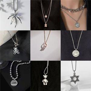 Pendant Versatile Couple Necklace Personality Jewelry Hip Hop Street Net Red Sweater Chain Fashion Pendant Accsori Female