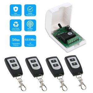 스마트 홈 433MHz RF 2ch 학습 코드 무선 원격 제어 스위치 릴레이 수신기 송신기 범용 시스템 지문 액세스