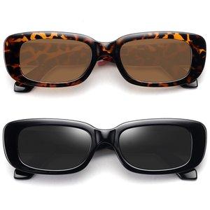 2021 маленькие прямоугольные женские ретро марки дизайнерские очки квадратные солнцезащитные очки старинные Zonnebril чертовы линзы солнцем декоративный