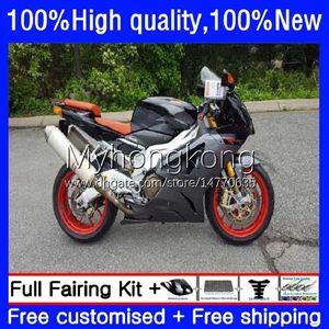 Body Kit For Aprilia RSV1000R Mille RV60 RSV 1000 R 1000R Grey black 2003 2004 2005 2006 Cowling 9No.86 RSV1000RR RSV1000 RSV-1000 R RR 03 04 05 06 Motorcycle Fairing