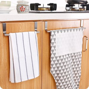 Towel Racks Multifunctional Single Pole Rack Kitchen Cabinet Door Back Hanger Bathroom Accessories