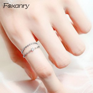 Cluster Rings Foxanry 925 Sterling Silver Couples Terndy Creative Handmade Opening Ring For Women Elegant Party Accessories Jewelry Gift