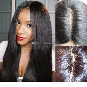150% Silk Base Wigs Brazilian Glueless Silk Top Full Lace Wig Silky Straight Lace Front Human Hair Wigs For Black Women