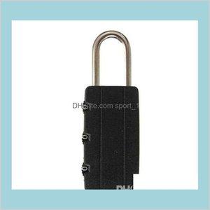 Cerraduras de puertas Suministros de construcción Hardware Home Garden Alta Calidad Black Seguridad Combinación Viaje Bolsa de equipaje Padlock Gym Locker Traje
