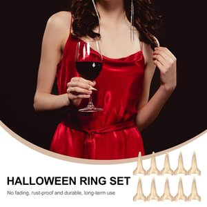 False Nails 10Pcs Halloween Punk Style Party Rings For Decor Costume