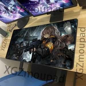 Mouse Pads & Wrist Rests XGZ Anime Custom HD Large Gaming Pad Black Lock Edge Girls Frontline Computer Table Mat Speed Rubber Non-slip Xxl
