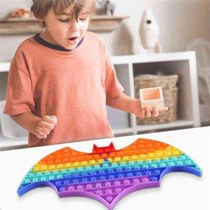 Halloween Super Large Size Children's Pioneer Bat Fidget Toys Push Poppers Bubbles Educational Toy Hallowmas Tie-Dye Kids Anti Stress Relief Game G91ZTAE
