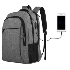 Custom Waterproof Travel School back pack Business Laptop Bag Backpacks With USB Charging Port