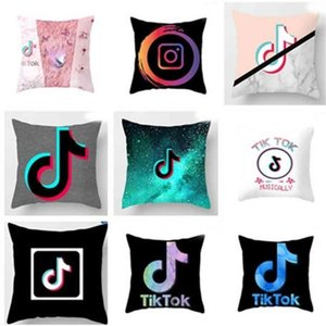 17 Colors Tik Tok Voice Jitter Tiktok Cushion Pattern Pillow Polyester Cushion Sofa Bed Throw Pillows Without Pillow Inner G4YWZ0V