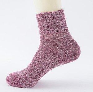 Kış Sıcak Yün Hosiery Yetişkin Erkek Kadınlar için Açık Spor Karışımı Çorap Vintage Pamuk Isıtıcı Çorap Çorap