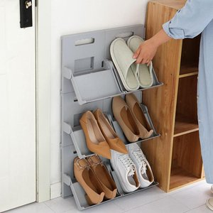 Pack Shoe Rack Wall Mounted Shoes Organizer Plasitc Accessories Storage Shelf Hanger For Slippers Sandals High Heels Sneaker Clothing & Ward