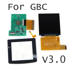 V3.0 2.6 Inches for GBC 5 Segment Adjustable Brightness Screen Replacement For Nintend GBC High Light Screen LCD Modification Kit Accessories